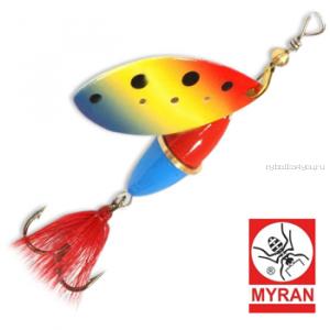 Блесна вертушка Myran Wipp 10 гр / цвет: Blue Zulo 6843-550