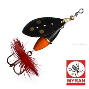 Блесна вертушка Myran Wipp 3 гр / цвет: Black Or/Sv 6440-09