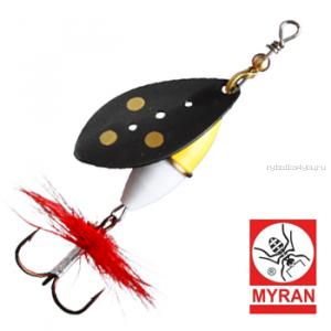 Блесна вертушка Myran Wipp Guld Vit 10гр / цвет: Svart 6443-98