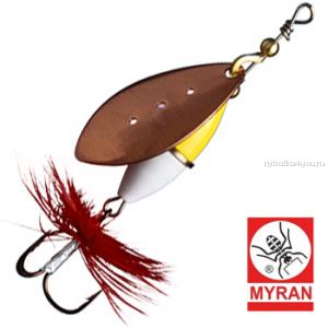 Блесна вертушка Myran Wipp Guld Vit 5гр / цвет: Koppar 6441-38