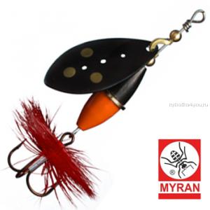 Блесна вертушка Myran Wipp Orange Svart 10гр / цвет: Svart 6443-09
