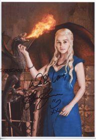 Автограф: Эмилия Кларк. Игра престолов