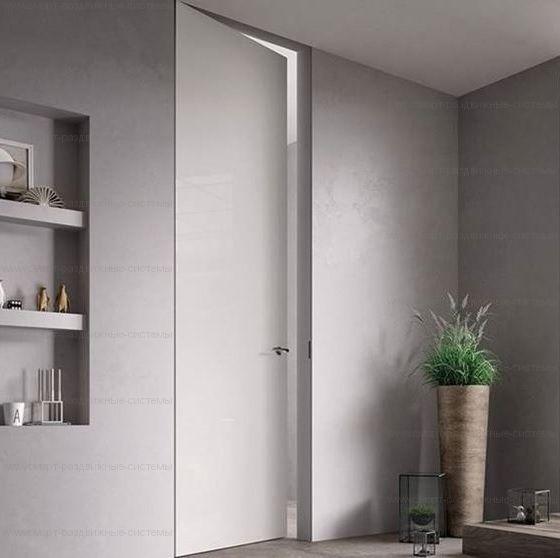 Дверь со скрытым коробом под отделку 2100 - 2700 мм высотой