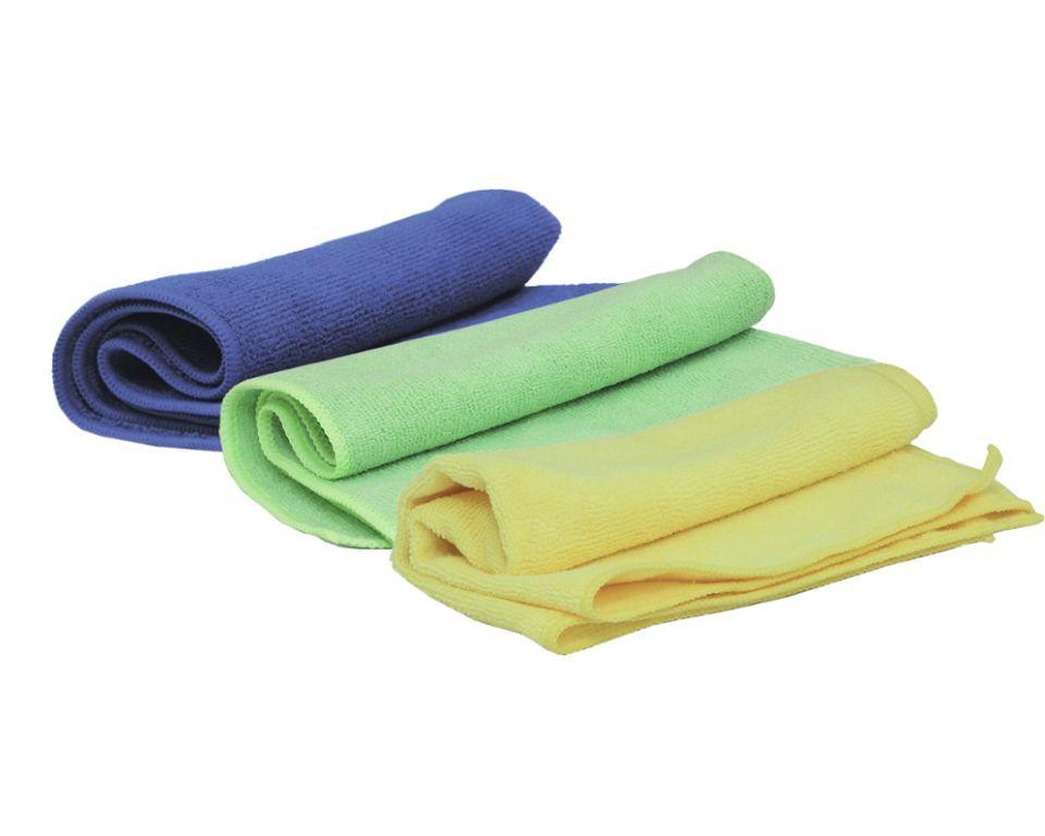 Jeta Microfiber Blue Полировальные салфетки многоразовые из микрофибровой ткани, вес 330 г/м2, зеленый