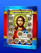 ПЛАНШЕТ + 25 рублей,цветная эмаль, серия АПОСТОЛЫ ИИСУСА ХРИСТА, набор 13шт