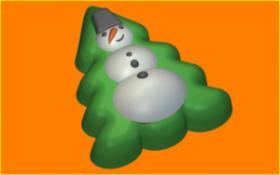 Форма для мыла Снеговик на ёлке