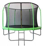 Батут Sport Elite 3,05м GB30201-10FT с защитной сеткой внутрь и лестницей, салатовый