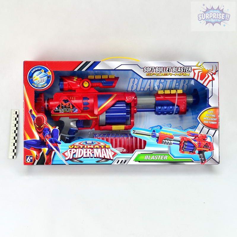 Пистолет Бластер человек паук с пулями на присоске (№SB371)