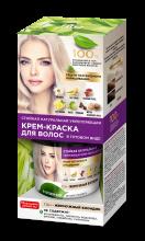 Стойкая натуральная укрепляющая крем-краска для волос «Народные рецепты» Тон Жемчужный блондин 120 мл