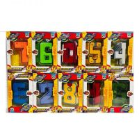 Трансбот Боевой расчет XL Космобот цифры 1-5 + Фаербот цифры 6-0