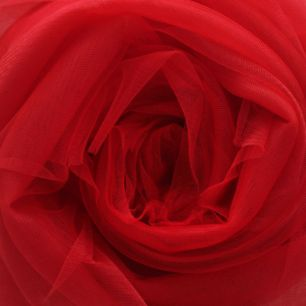 Мягкий фатин (еврофатин) 300х25 см - красный
