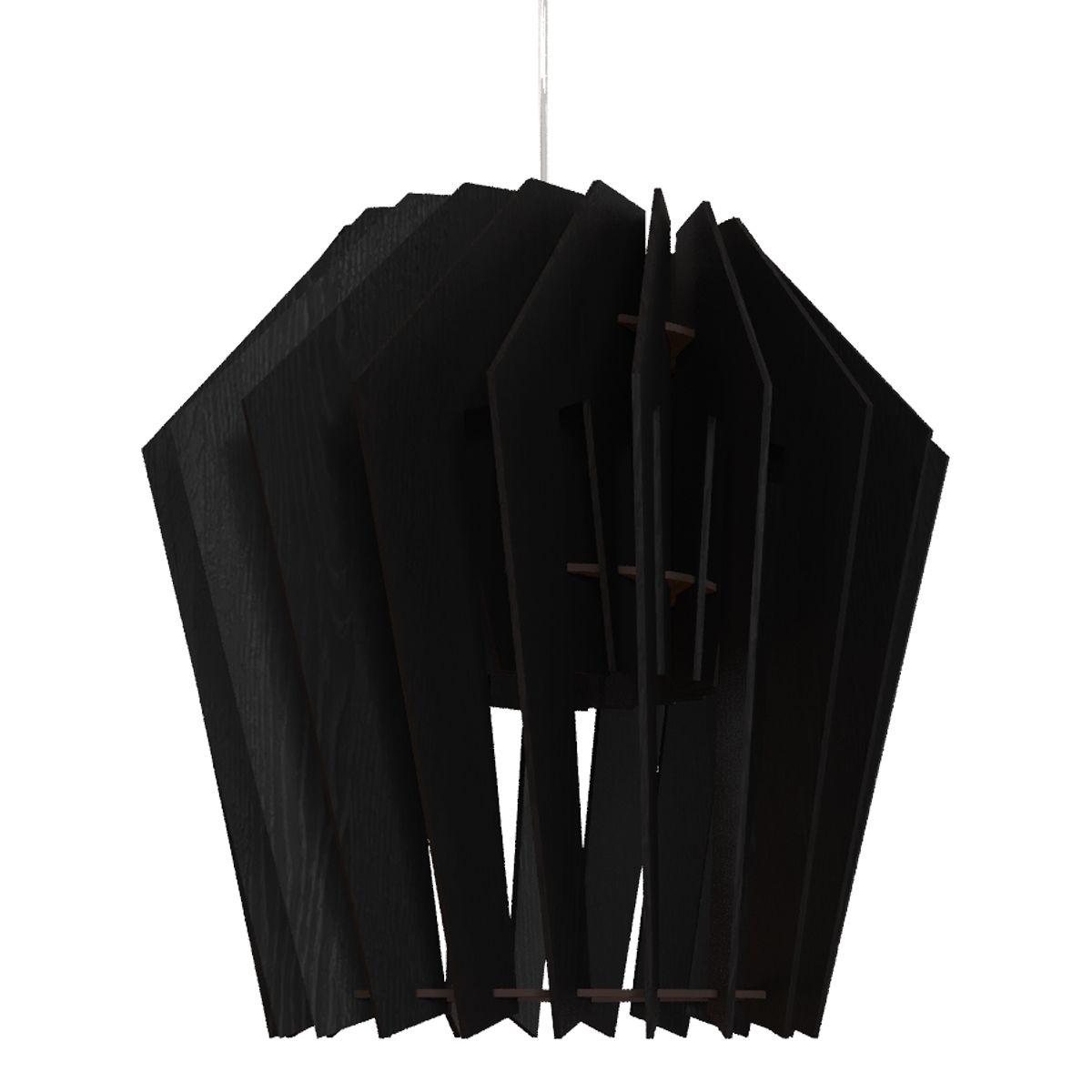 Турболампа из чёрного дуба, большая (подвесной/настольный светильник)