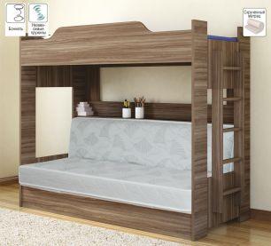 Кровать двухъярусная с диваном (Боровичи)
