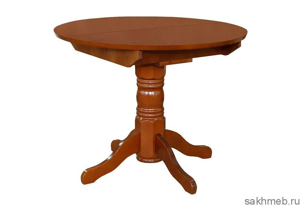 Стол обеденный раздвижной круглая крышка массив (Боровичи)