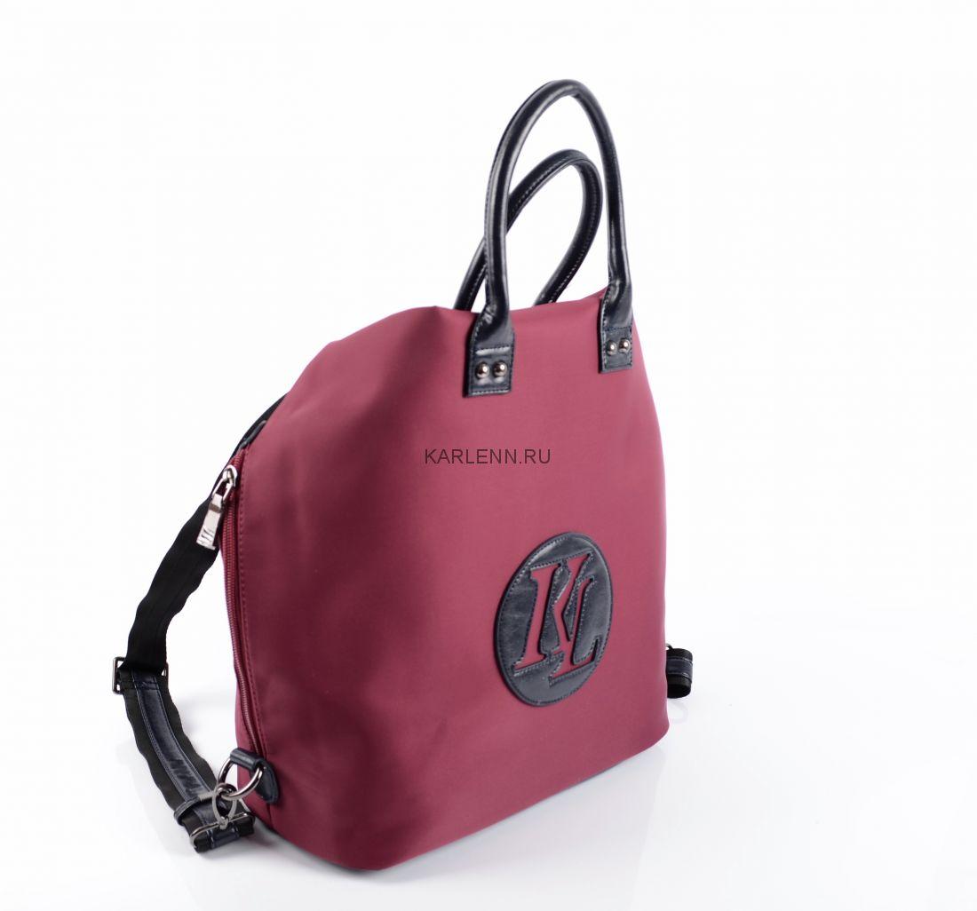 Сумка-рюкзак женская KARLENN (вишнёвая)