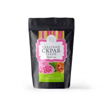 """Сухой сахарный скраб """"Розовый мед"""" 250 гр"""