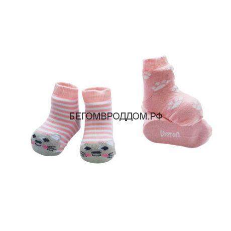 Набор носочков 0-6мес. Котик розовый, 2 шт./ Uviton