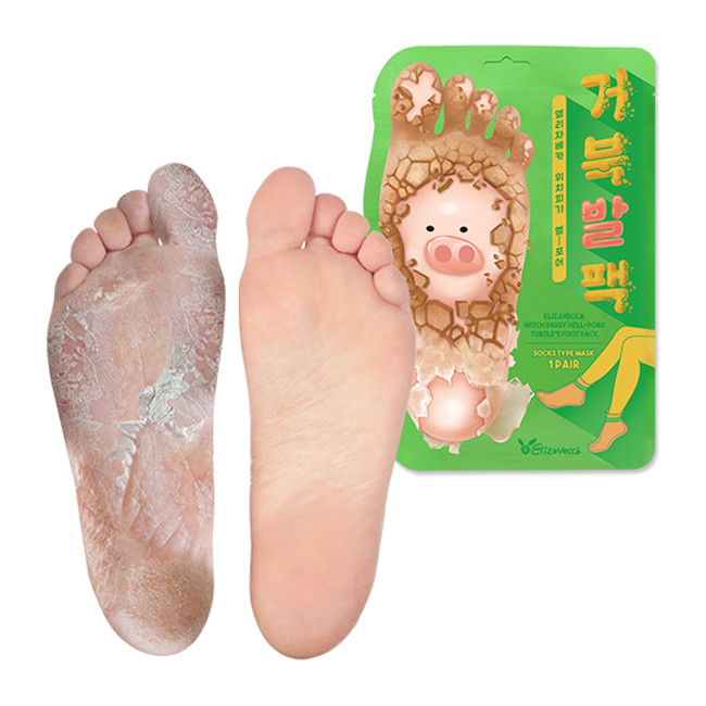 Пилинг-носочки Elizavecca Witch Piggy Hell Pore turtle's foot pack 40гр
