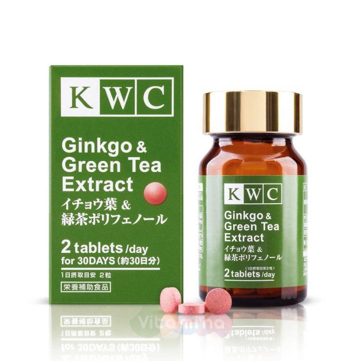 KWC Гинкго и экстракт зеленого чая, 60 табл.