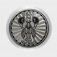 РАК- монета 25 рублей из серии ЗНАКИ ЗОДИАКА (лазерная гравировка)