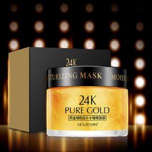 Ночная крем-маска с Ниацинамидом Venzen от «BIOAQUA»  24k Pure Gold .(21071)