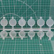 1574-Баночка для хранения и колеровки краски, 10 мл, герметичная крышка, набор 6 шт.,