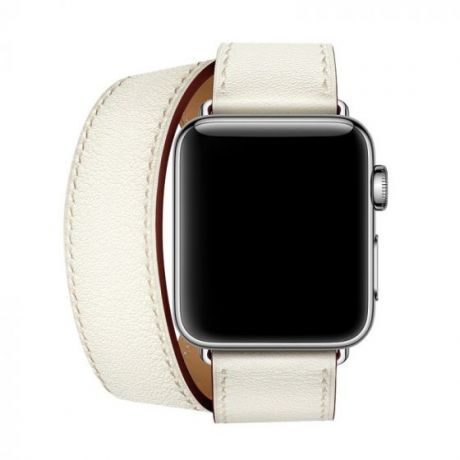 Apple Watch Hermes Series 4 Stainless Steel 40mm GPS + Cellular White Leather Double Tour
