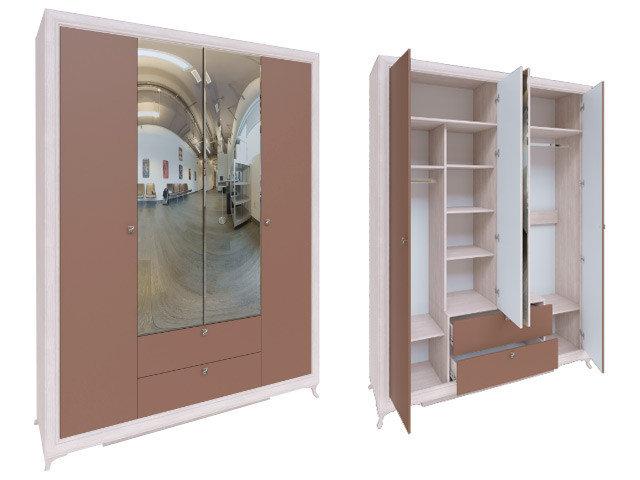 Саванна шкаф 4-х дверный М01