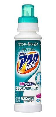 KAO Attack Ultra Neo Концентрированный гель с отбеливающим эффектом для быстрой стирки с ароматом фруктового мыла