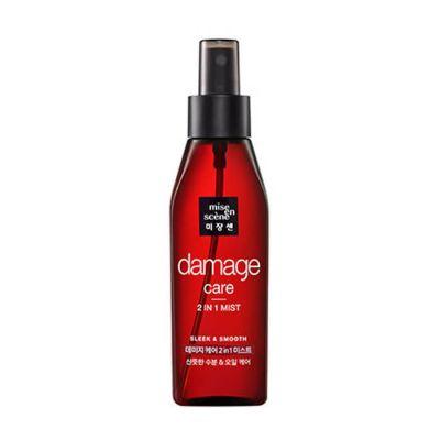 Мист для волос Восстанавливающий, MISE EN SCENE Damage Care 2 in 1 Sleek & Smooth Mist 150 мл