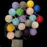 Электрическая разноцветная гирлянда Шарики, 20 шт (2)
