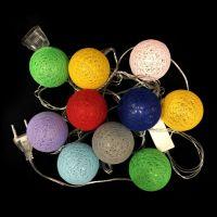 Электрическая разноцветная гирлянда Шарики, 10 шт (2)