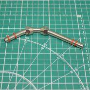 Переходник гайка M12x1 - трубка - гайка M12x1 (головка компрессора 1203 II - ресивер) комплект с прокладками