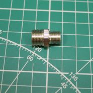 """Переходник штуцер 1/8"""" -  штуцер  M12x1 (ресивер - трубка на головку, компрессор 1203, 1206, 1208)"""