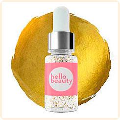 Hello beauty Золотая сыворотка перед макияжем с экстрактом красной водоросли и 24-каратным золотом