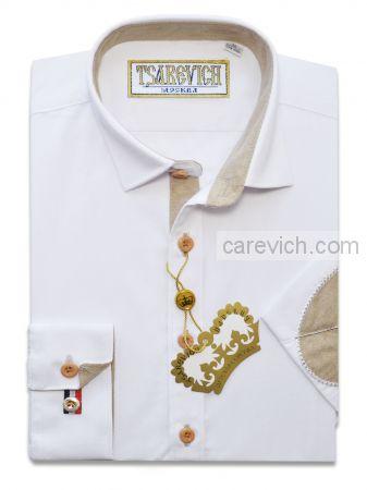 "Рубашки для мальчиков оптом ""Царевич"" (6-14 лет.). 10 шт. Артикул: PT2000_LOK (белая)"