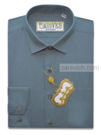 "Рубашки для мальчиков оптом ""Царевич"" (6-14 лет.). 10 шт. Артикул: 24 Storm Blue"