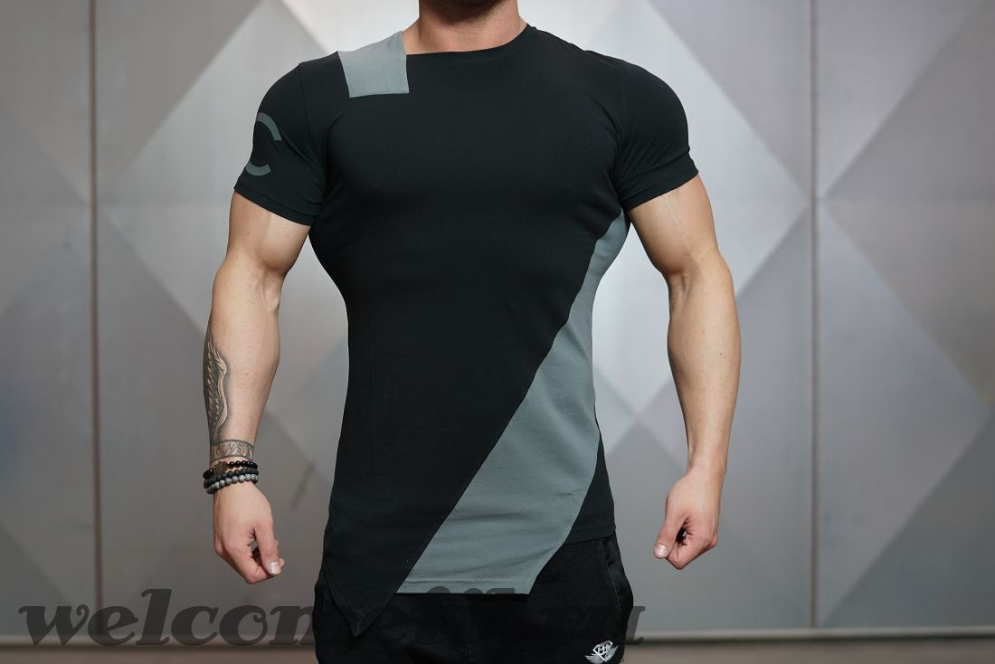 DC CUE shirt - Black and Grey