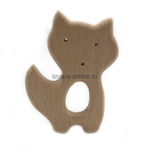 Деревянный грызунок - Лисичка