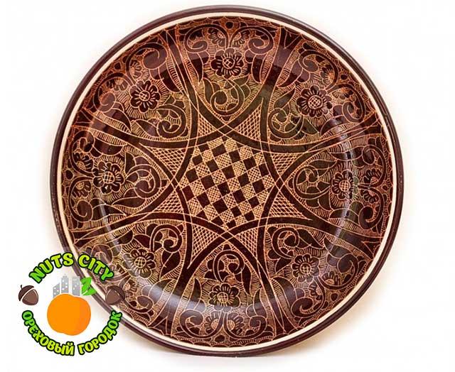 Тарелка коричневая Большая 43см