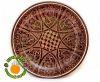 тарелка узбекская керамика коричневая