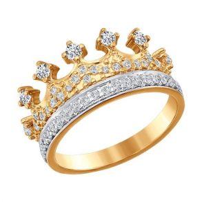 Кольцо «Корона» из золота 016630 SOKOLOV