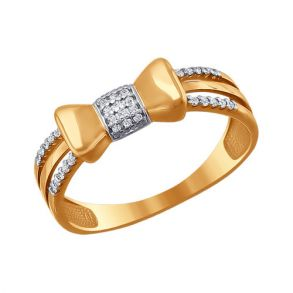 Кольцо «Бантик» из золота 016638 SOKOLOV