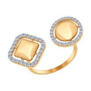 Кольцо из золота с фианитами 017076 SOKOLOV