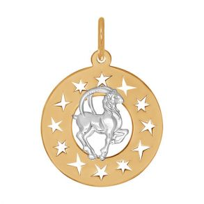 Подвеска «Знак зодиака Козерог» из комбинированного золота 031619 SOKOLOV
