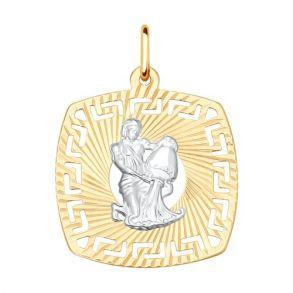 Подвеска «Знак зодиака Водолей» 031644 SOKOLOV