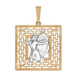 Подвеска «Знак зодиака Стрелец» с алмазной гранью 032298  SOKOLOV