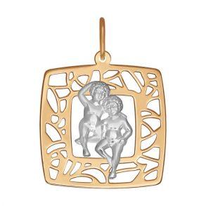 Золотая подвеска «Знак зодиака Близнецы» 033629 SOKOLOV
