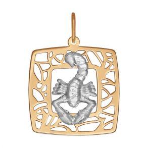 Золотая подвеска «Знак зодиака Скорпион» 033634 SOKOLOV