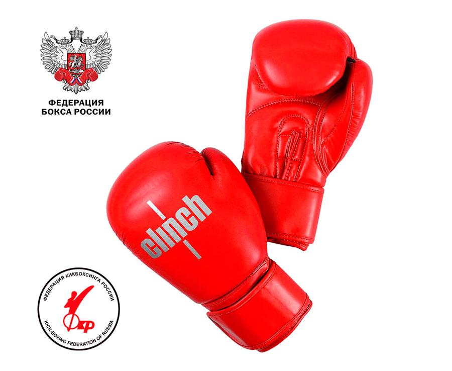 Перчатки боксерские Clinch Olimp Plus красные , 14 унц., артикул C155